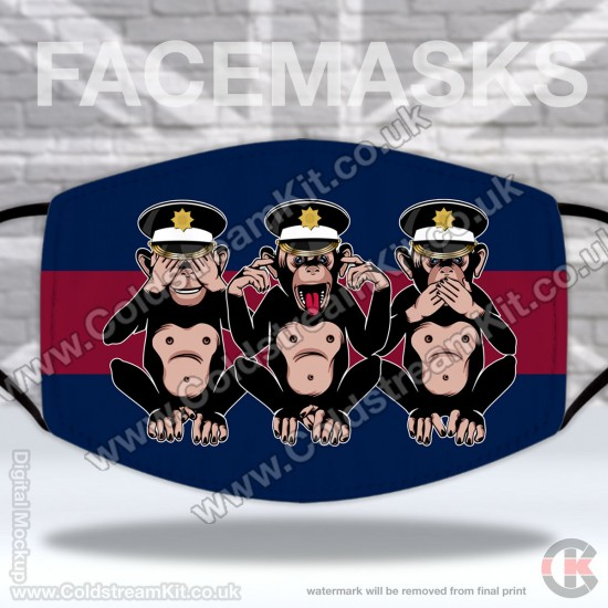 3 Wise Monkeys, Coldstream Guards, Regimental Face Mask (Non Medical Use) - FREE POSTAGE