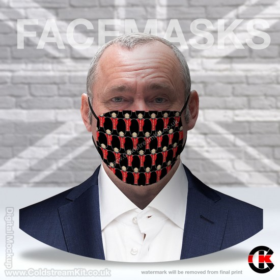 Coldstream Guards Regimental Face Mask (Non Medical Use) - FREE POSTAGE