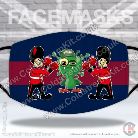 Coldstream Guards, Fighting Guards Vs COVID-19, Regimental Face Mask (Non Medical Use) - FREE POSTAGE