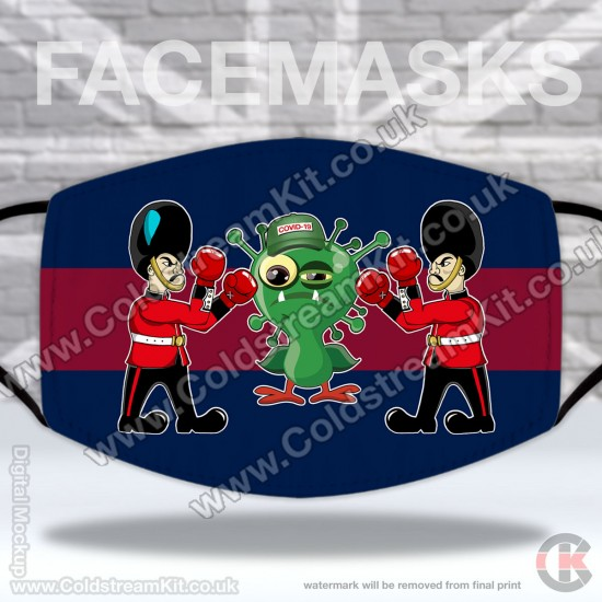 Irish Guards, Fighting Guards Vs COVID-19, Regimental Face Mask (Non Medical Use) - FREE POSTAGE