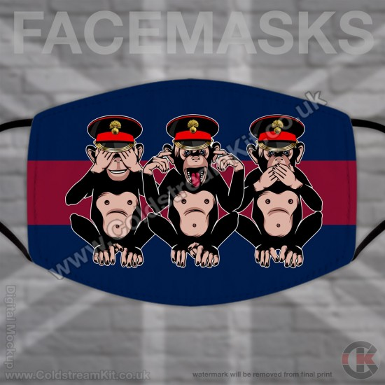 3 Wise Monkeys, Grenadier Guards, Regimental Face Mask (Non Medical Use) - FREE POSTAGE