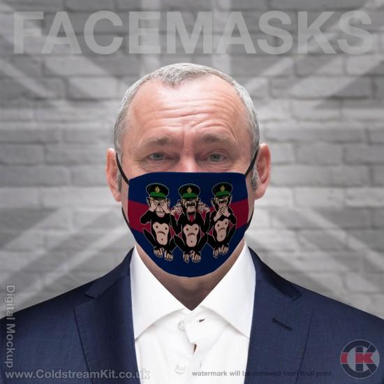 3 Wise Monkeys, Irish Guards, Regimental Face Mask (Non Medical Use) - FREE POSTAGE