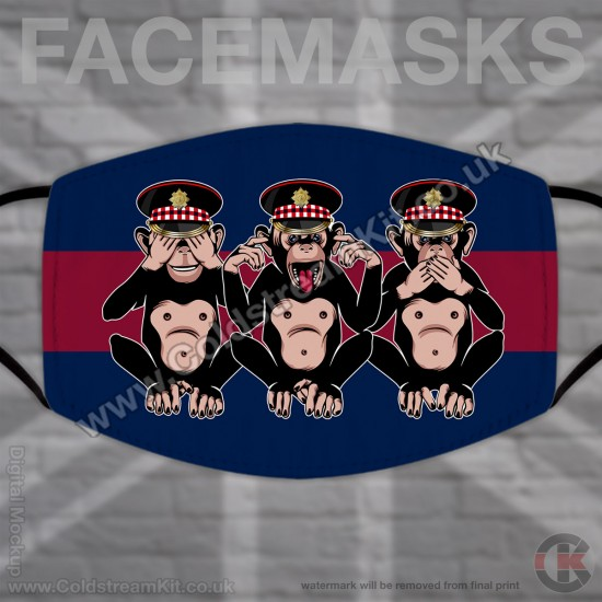 3 Wise Monkeys, Scots Guards, Regimental Face Mask (Non Medical Use) - FREE POSTAGE