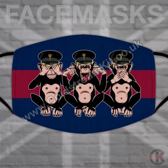 3 Wise Monkeys, Welsh Guards, Regimental Face Mask (Non Medical Use) - FREE POSTAGE